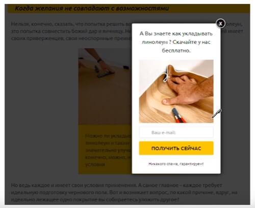 Пример магнита на сайте