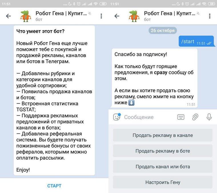 Реклама в Телеграм-ботах